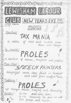 Lewisham Labour Club New Years Eve  1991 001