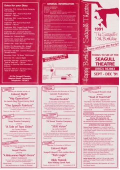 Seagull Theatre 10th Birthday Sept-Dec 1991 double