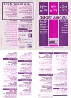 Word for Word Berks Lit Festival June 1993 double