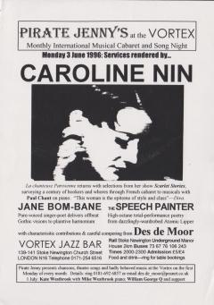 Vortex Jazz Bar Stoke Newington June 1996 001