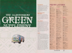 Glastonbury Green Supplement 1998 double