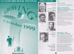 Guildford Book Festival October 1999 double