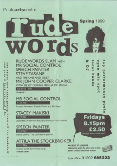 rude words Poole Arts Centre Spring 1999 001