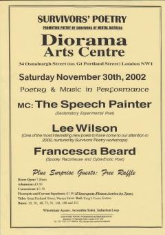Survivors Poetry Diorama Arts Centre Nov 2002 001
