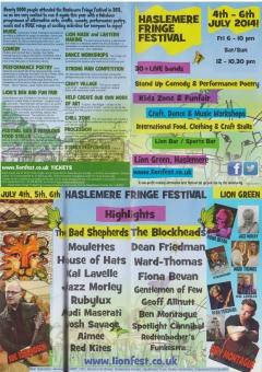 Haslemere Fringe Festival July 2014 double