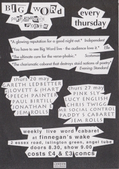 Big Word Finnegans Wake Islington 001