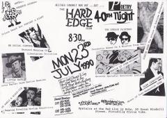 Hard Edge Club Red Lion Soho Mon 23 July 1990